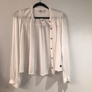 NEVER WORN White Hollister Blouse!